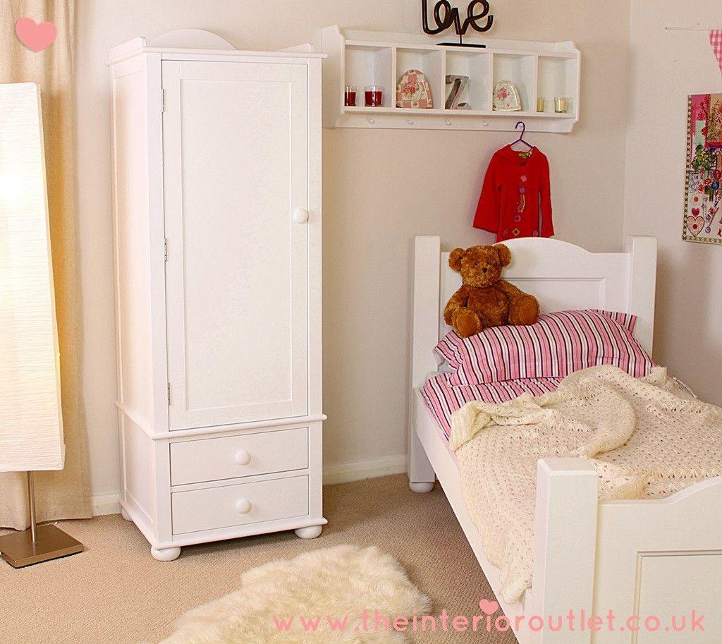 Best Exceptional Quality White Childrens Single Wardrobe Free 400 x 300