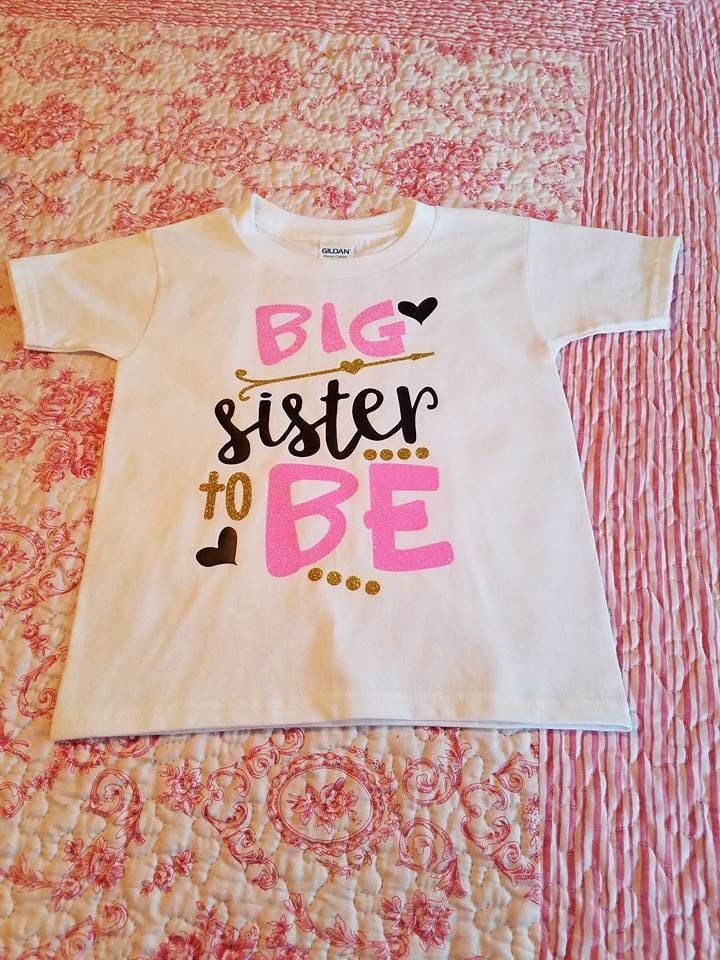 Big Sister To Be Big Sister Pregnancy Announcement Shirt