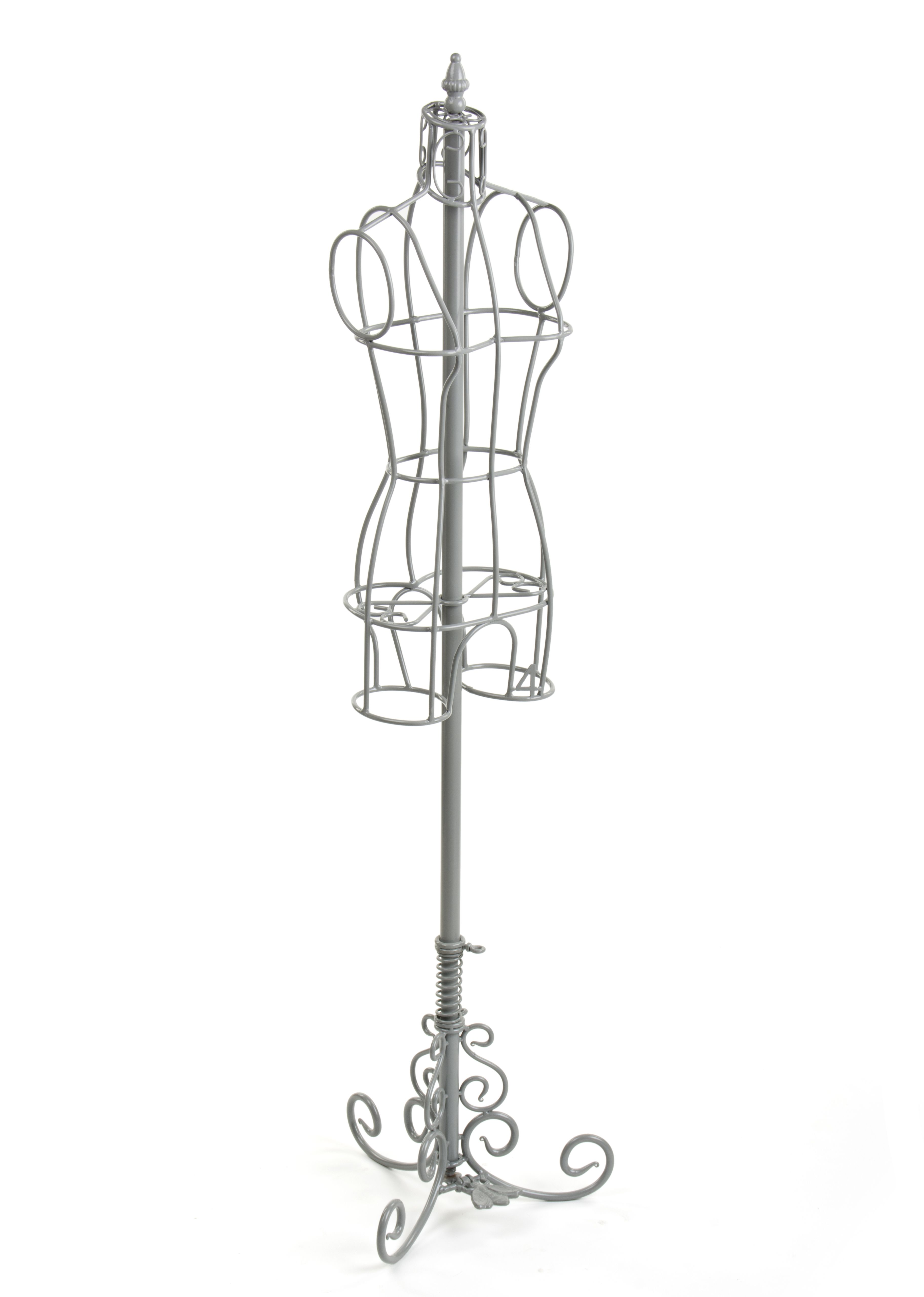 Female Dress Form with Stand, Wrought Iron, Size 4 - Gray | Dress ...
