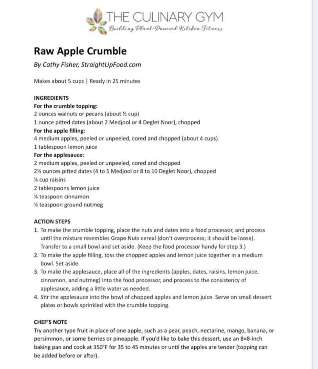 Pin By Chava Cohen On Eat To Live Apple Crumble Crumble Topping Apple Filling