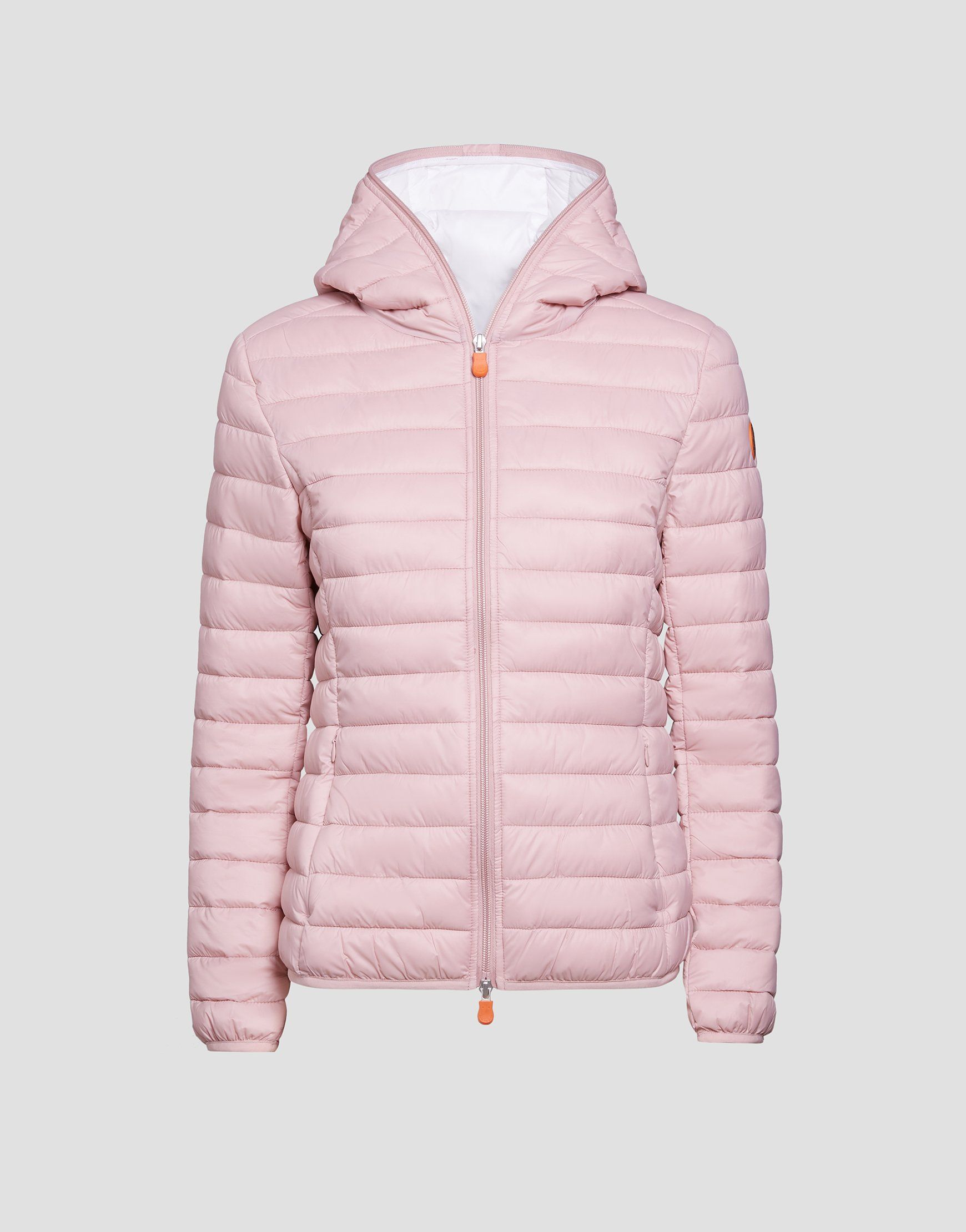 Womens Giga Hooded Puffer Jacket In Blush Pink Save The Duck Jackets Winter Jackets Women [ 2220 x 1740 Pixel ]