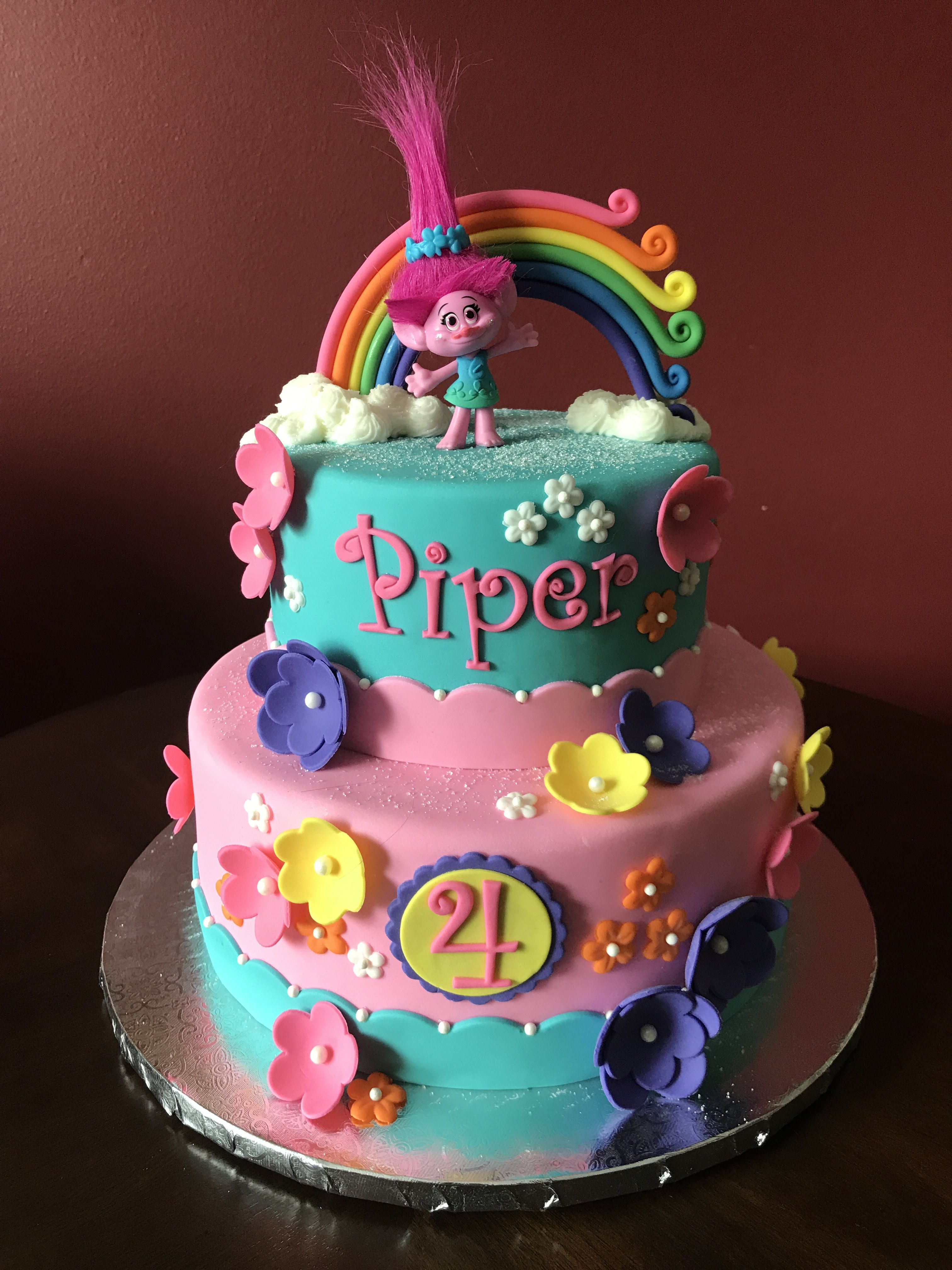 Trolls Poppy Birthday Cake Trolls Birthday Party Cake Trolls