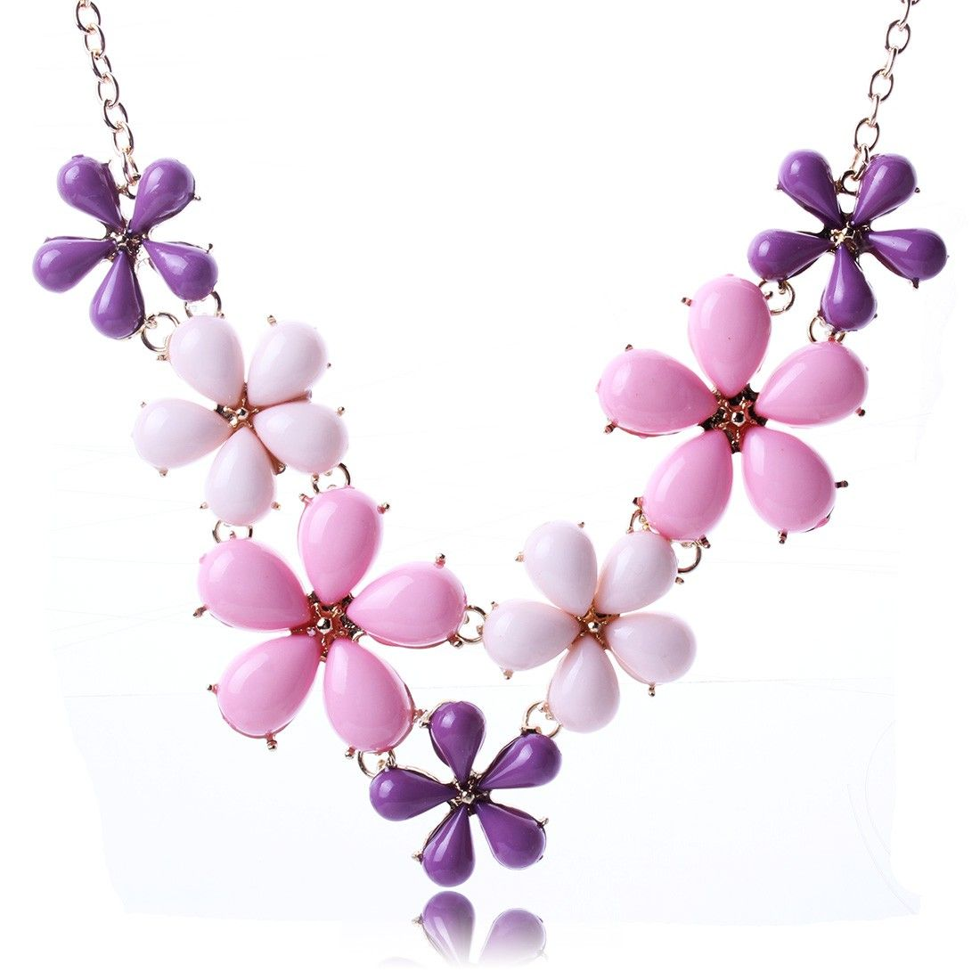 Sweet Style Beautiful Flowers Pattern Necklace for Prom