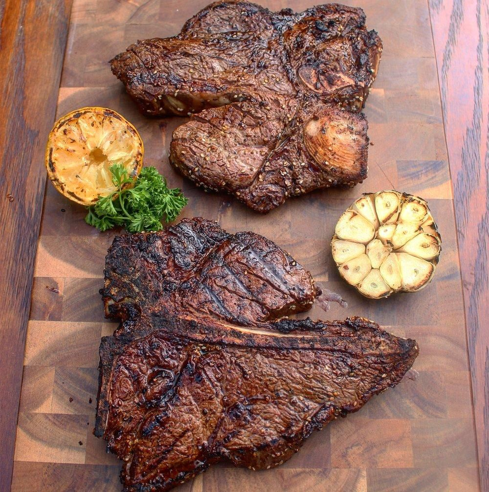 The Perfect Porterhouse Steak Over The Fire Cooking Recipe Porterhouse Steak Porterhouse Steak Recipe How To Grill Steak