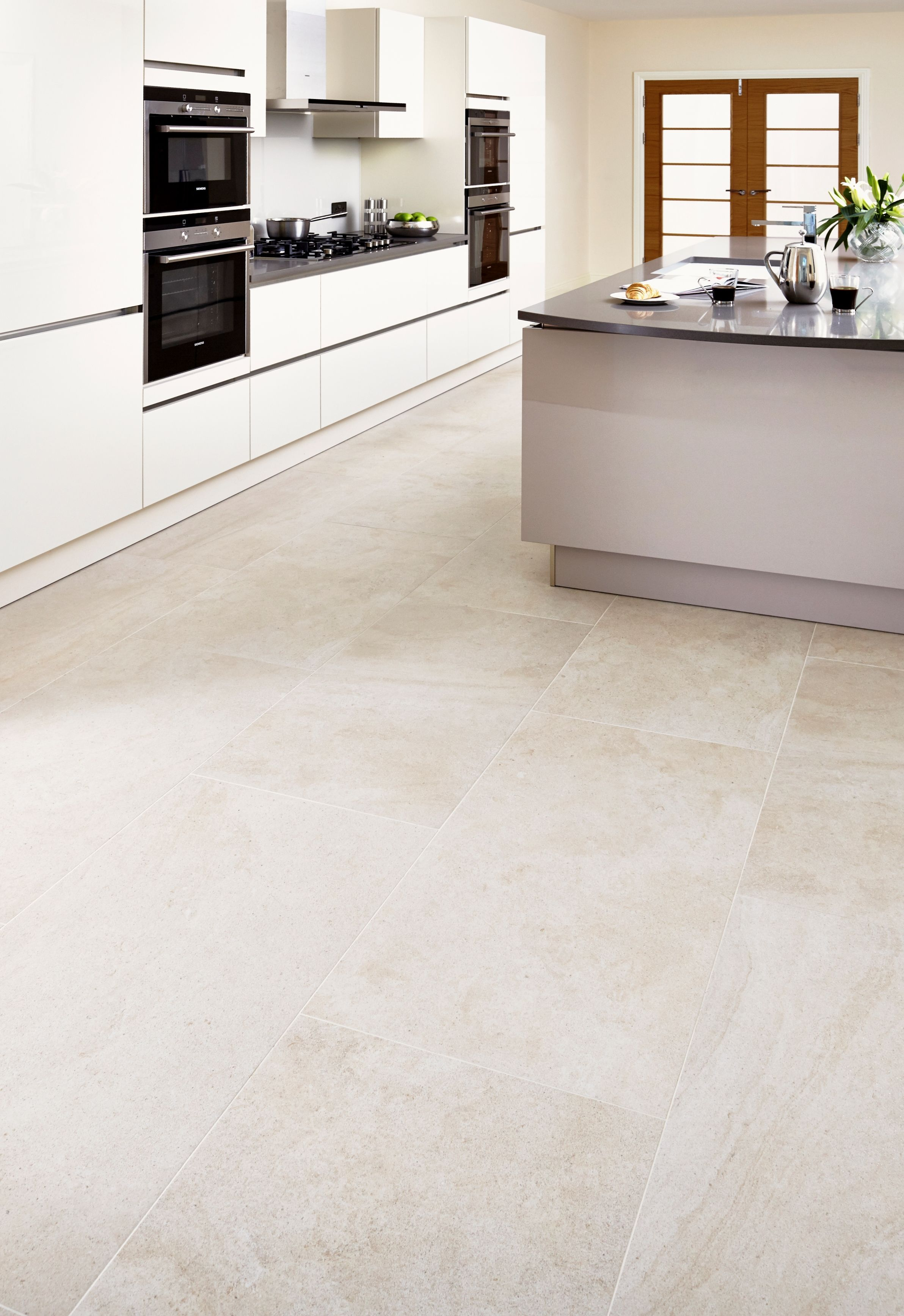 Limestone Matt Almond Floor Tiles Are Perfect For The Kitchen From