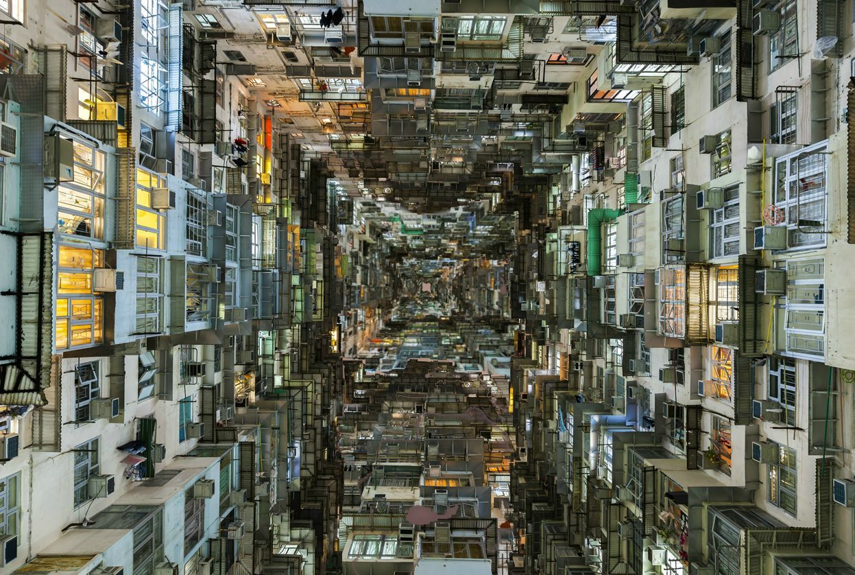 inside kowloon walled city google search sky. Black Bedroom Furniture Sets. Home Design Ideas