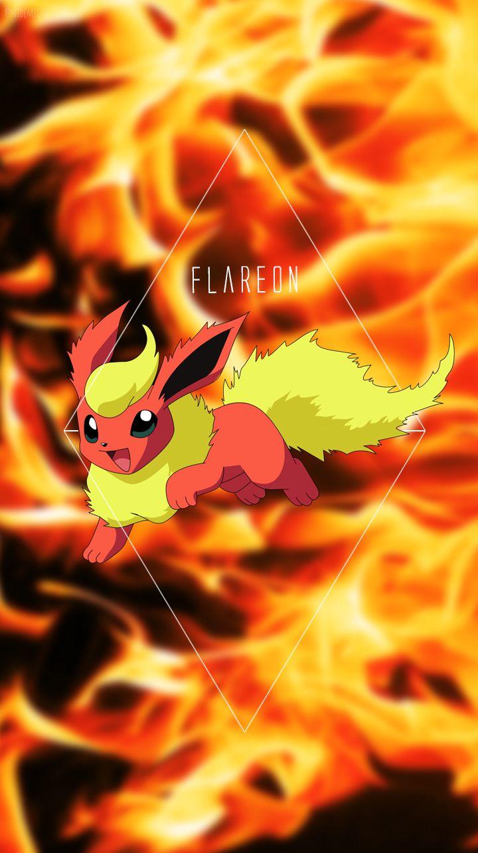 Wallpaper Flareon Pokemon Eeveelutions Pokemon Eevee Pokemon