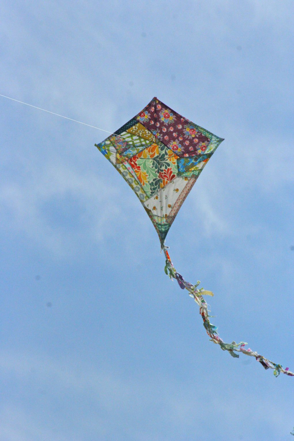 Quilted homemade kite