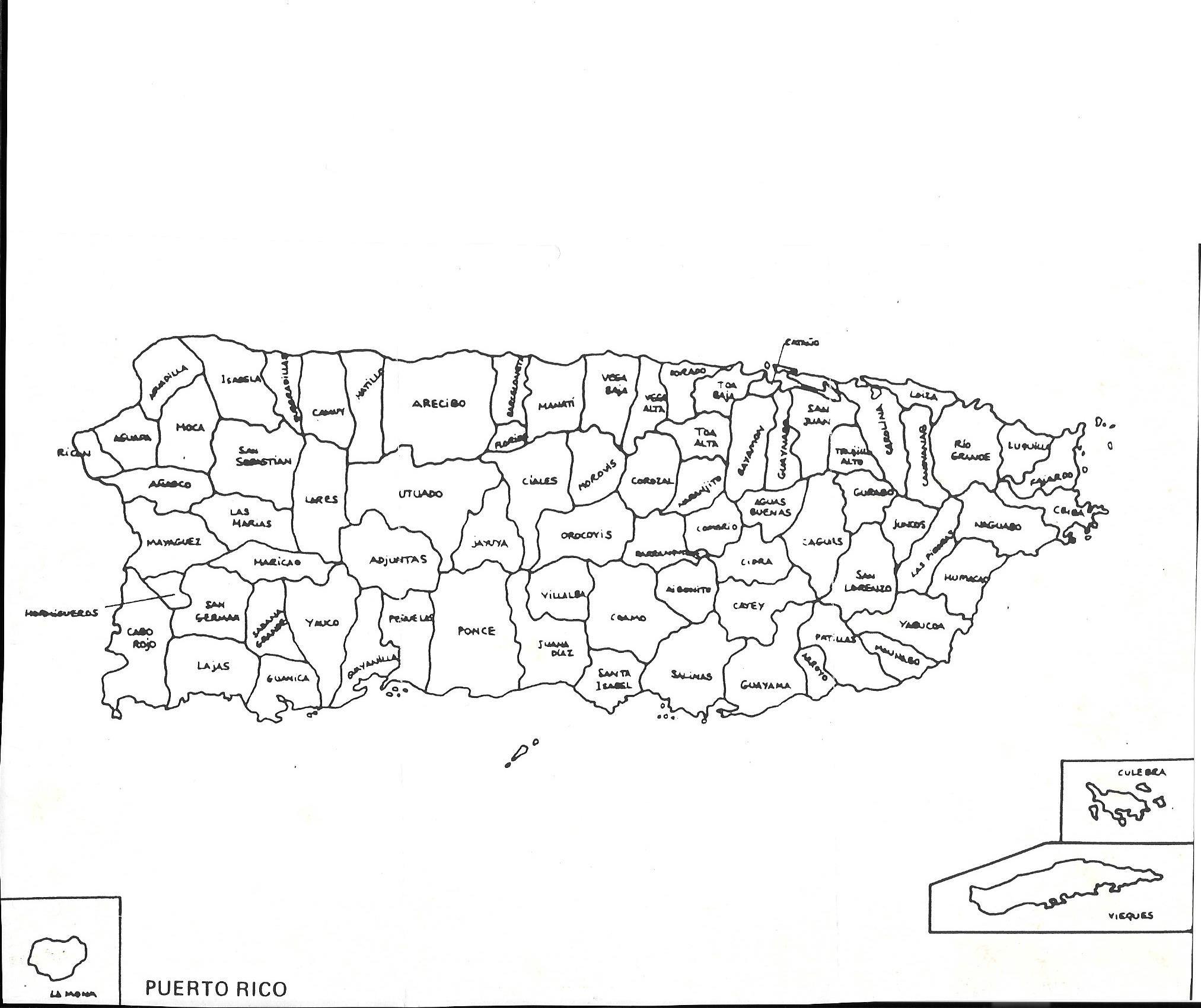 Image Result For Mapa Con Los Pueblos De Puerto Rico