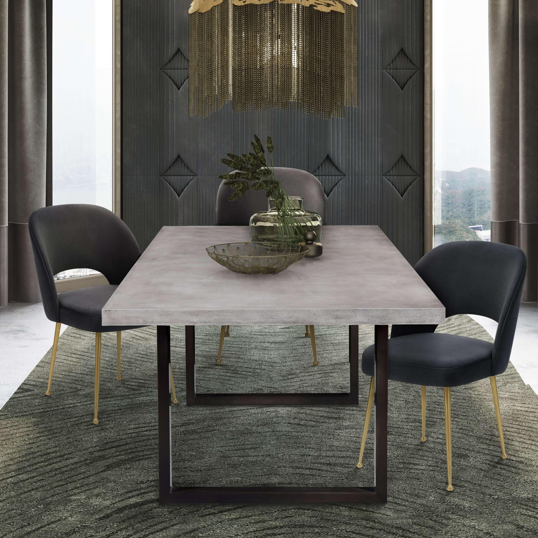 Edna Concrete Table Tov Furniture Concrete Dining Table Concrete Top Dining Table Concrete Table