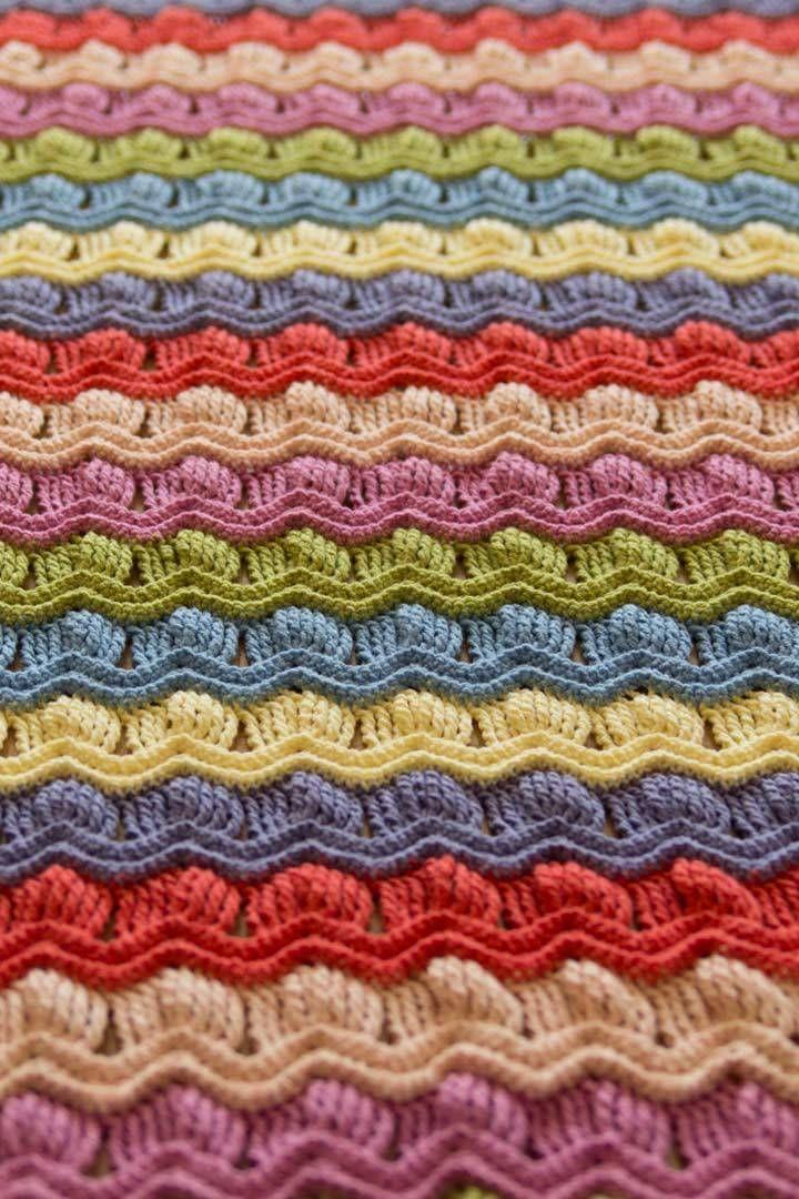 Crochet Vintage Fan Ripple Blanket Afghan (Posted for the color idea ...