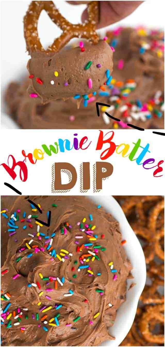 Brownie Batter Dip + VIDEO #easysimpledesserts