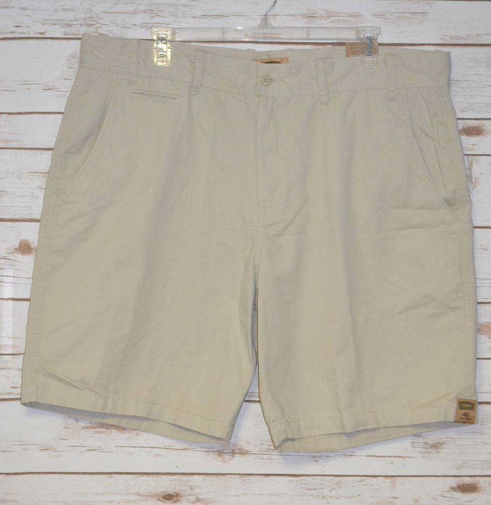 Colors Marquis Mens 100/% Cotton Classic-Fit Flat Front Casual Chino Shorts