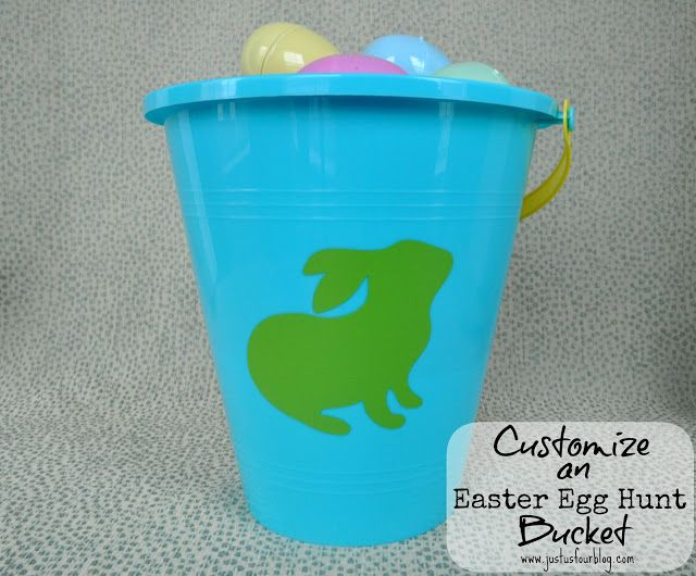 Easy Easter Crafts - Customized Easter Buckets - Just Us Four