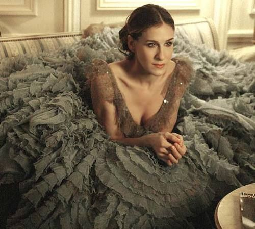 Carrie Bradshaw's dress of mille feuille. that dress was so gorgeous!!!!!!