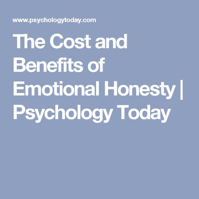 Benefits of honesty