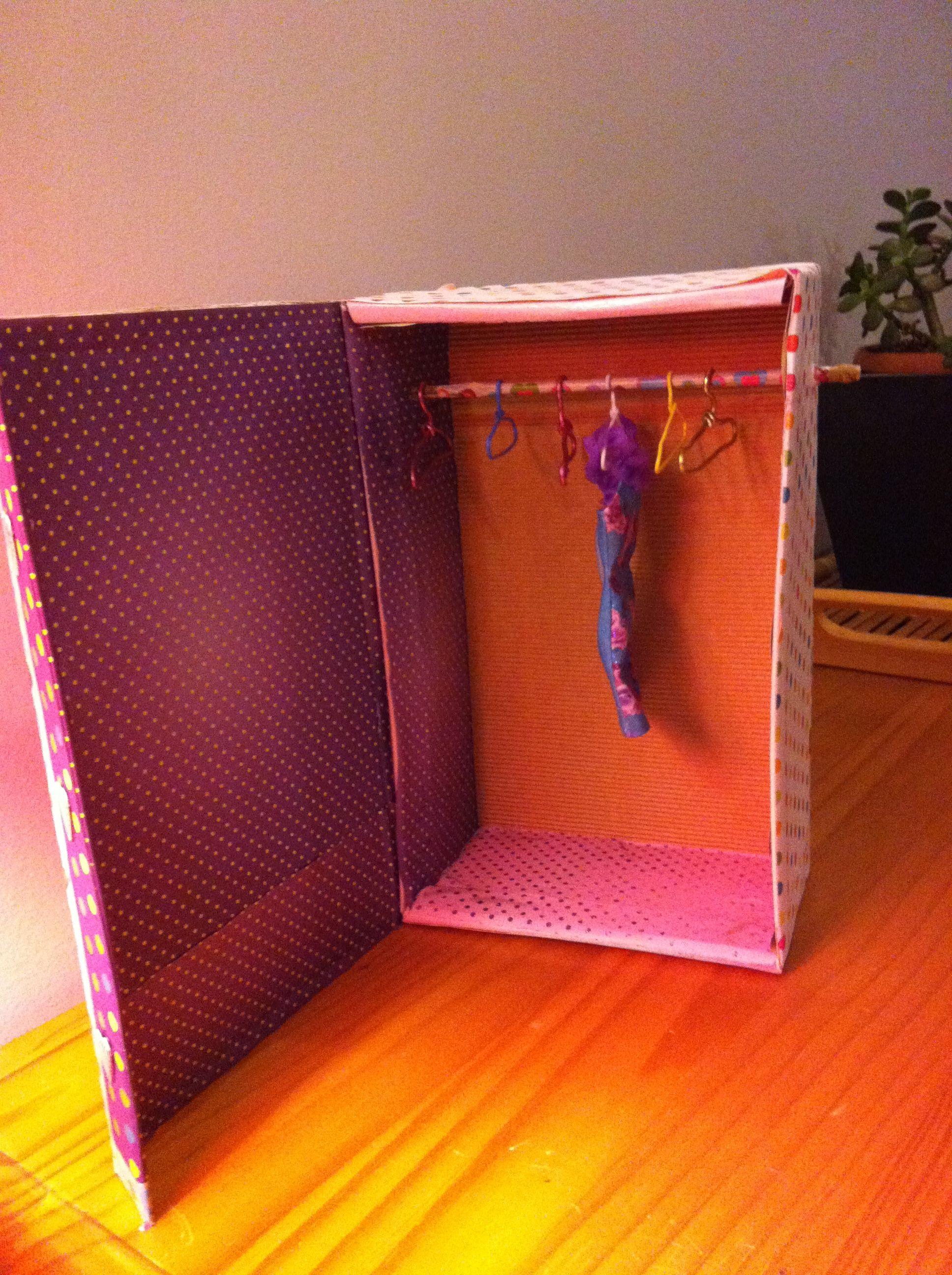 Recyclage Boite Chaussures En Placard Barbie Mes Cras