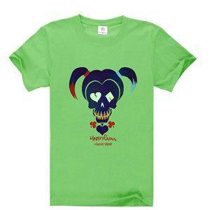 2016 Suicide Squad Detective Comics HARLEY QUINN Men's Cotton Short Sleeve T-shirt Casual Tee shirt 3D digital Print AW1282