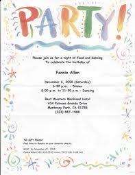 Party Invitation Letter Barca Fontanacountryinn Com