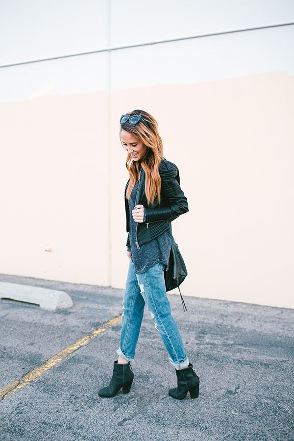 Jacket: ASOS Top: Chaser / Love THIS Jeans: Joe's / Love THESE Boots: Rag & Bone  Bag: Balenciaga Photos by: Emmy Lowe One fact you must know about me: I love Fall & Winter. I could have it...