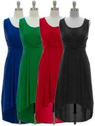 Women Solid High/Low Dress