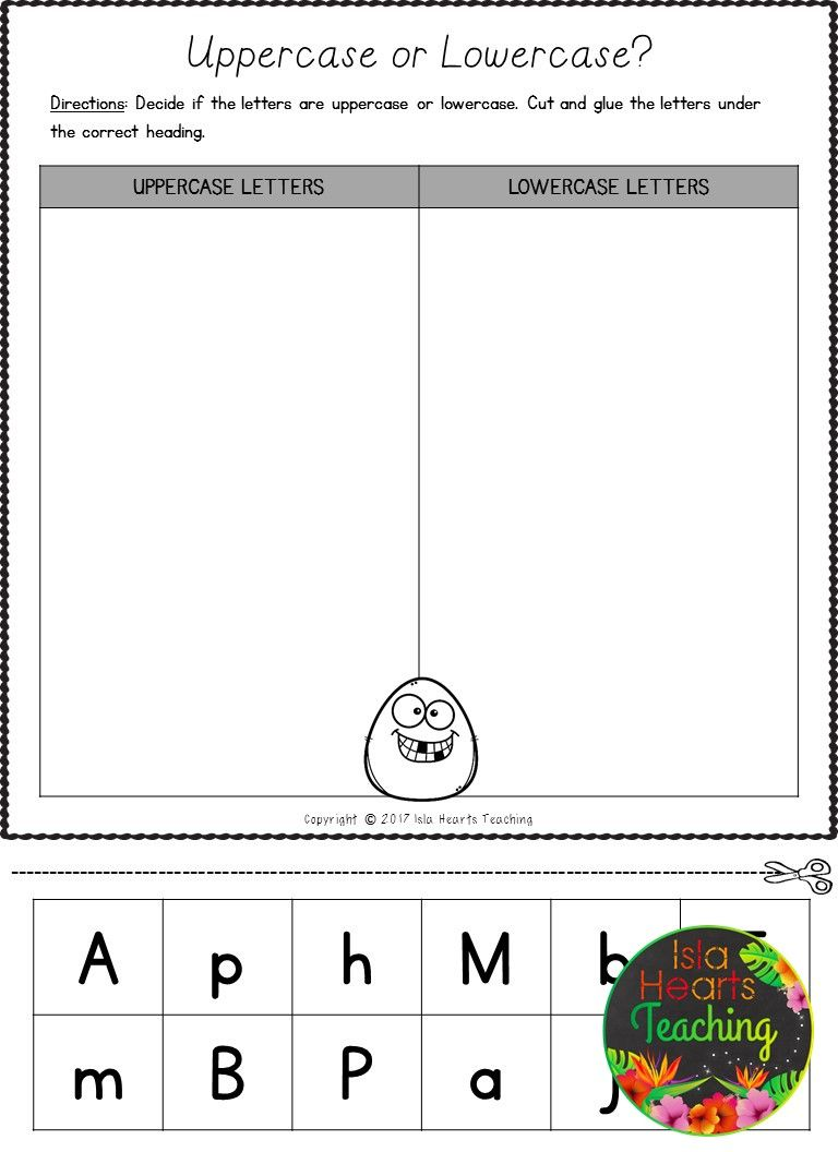 FREE Letter Sorts (Uppercase and Lowercase Letters of the Alphabet ...