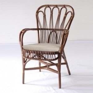 Perfect Baden Dutch Vintage Rattan Dining Chair   TevaLiving
