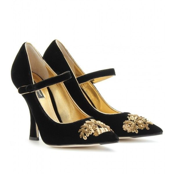 Dolce & GabbanaEmbroidered high mary janes cITM1x3K8