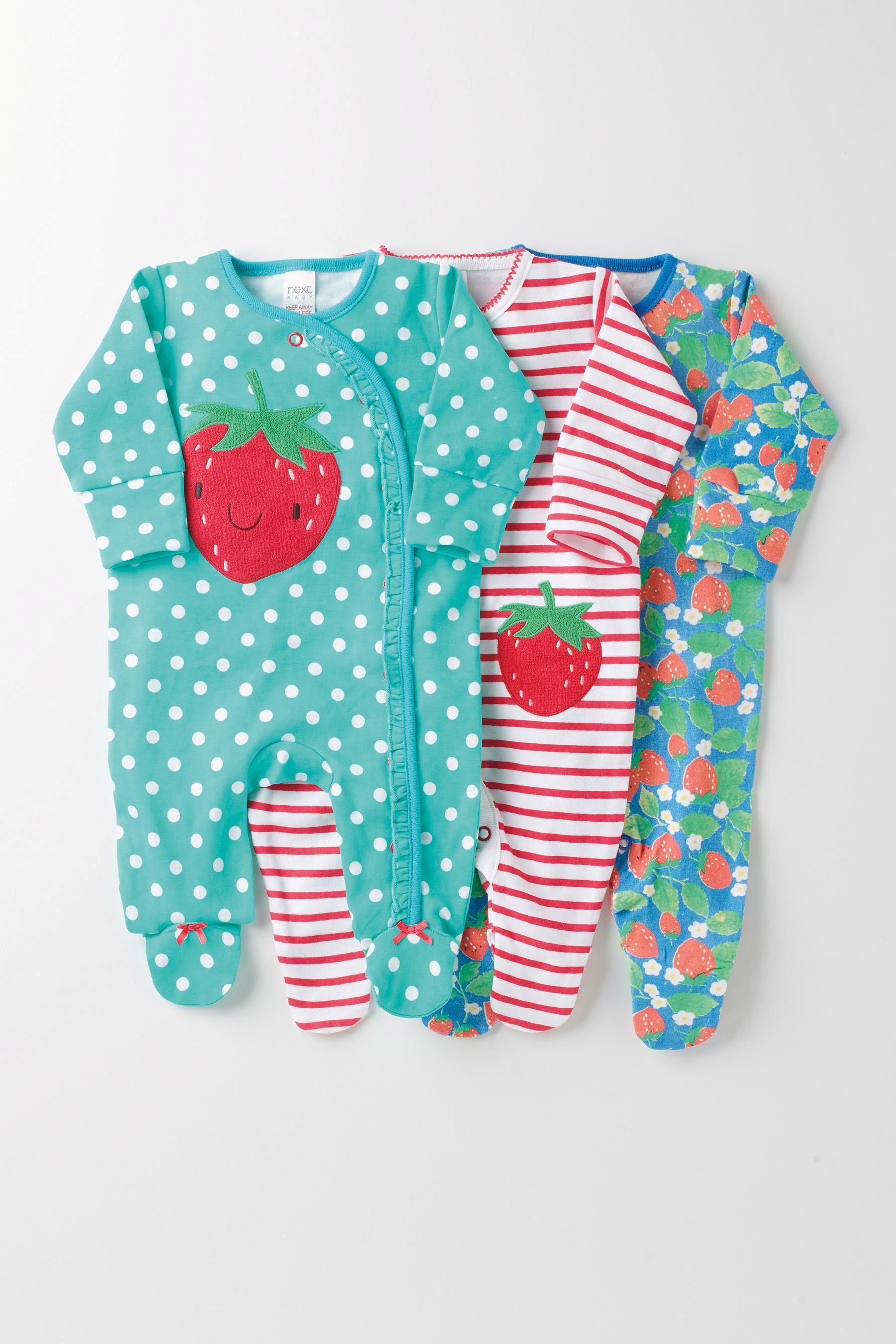 M/ädchen Schlafanzug Mit Erdbeermotiv next Baby