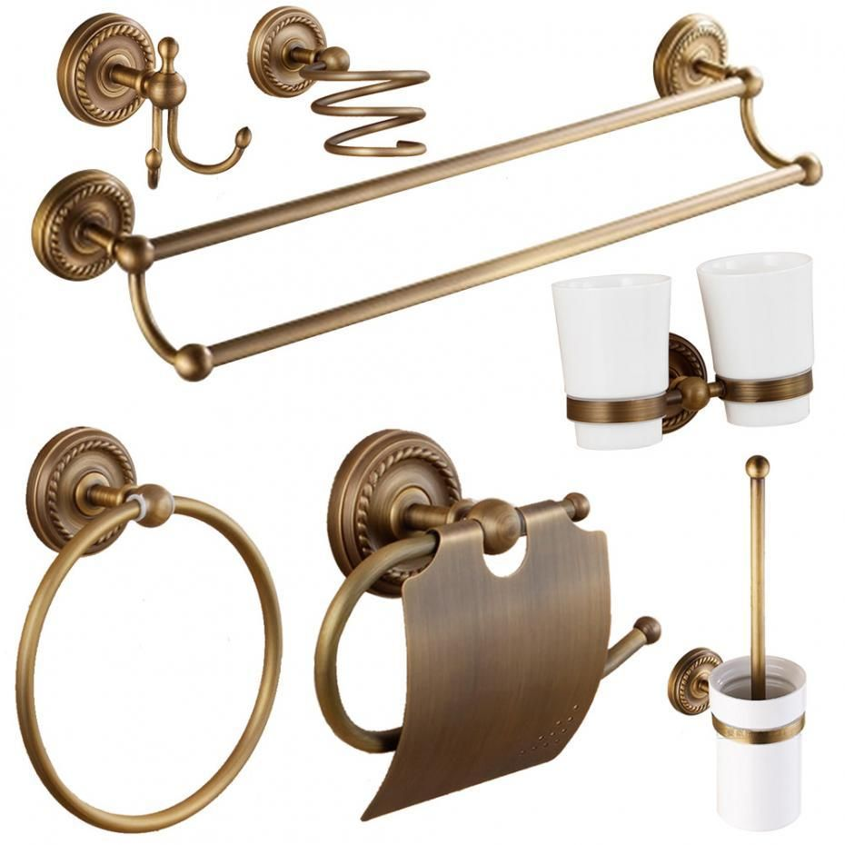 Antique solid brass bathroom accessories | Bathroom Accessories ...