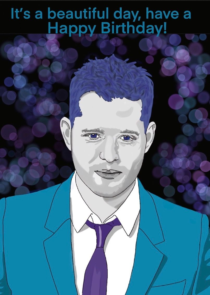 Michael Buble Card Birthday Card Drawing Shopping Card Cards