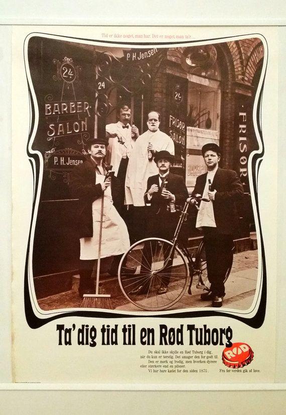 1973 Red Tuborg Advertisement Rod Tuborg Reklame Ii Original Vintage Poster Beer Poster Beer Poster