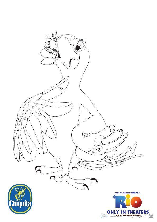 Jewel Coloring Sheet Rio 2 Desenhos Disney Desenhos Desenho