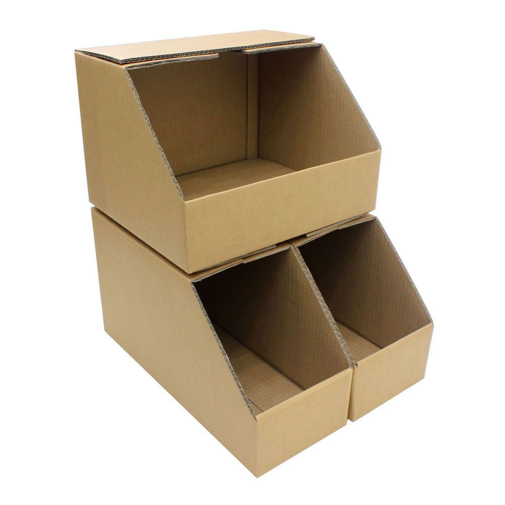 Large New Wooden Storage Box Diy Crates Toy Boxes Set: Storage Bins Wide Heavy Duty Picking Cardboard Pick Shelf