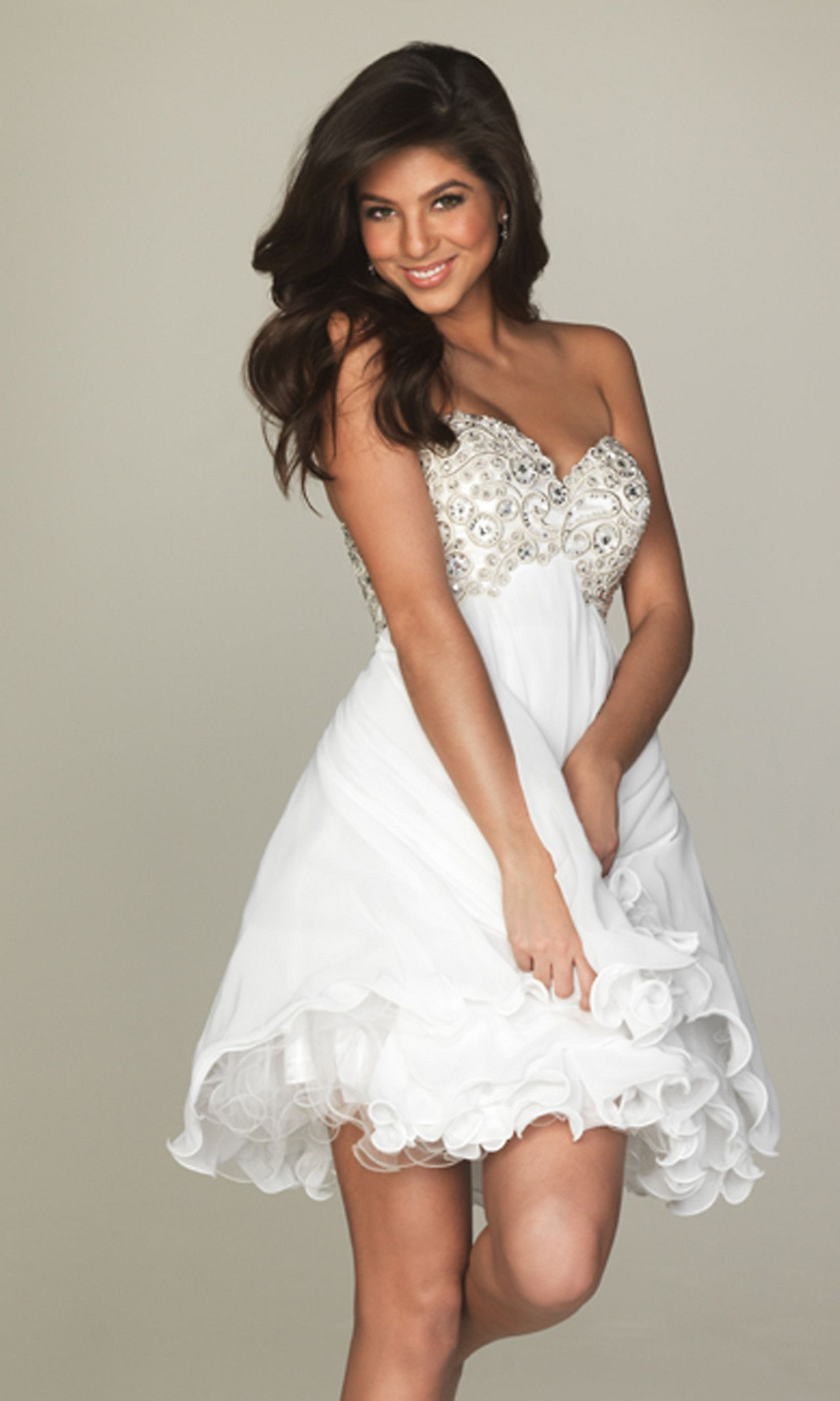 White dress cocktail party - Find This Pin And More On All White Party Dress