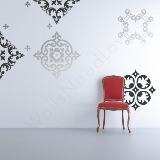 Baroque Pop Wall Decals Wall Mural Decals Vinyl Wall Decals