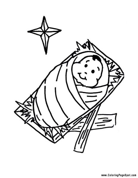 free printable baby jesus coloring pages | Baby Jesus Coloring Page ...