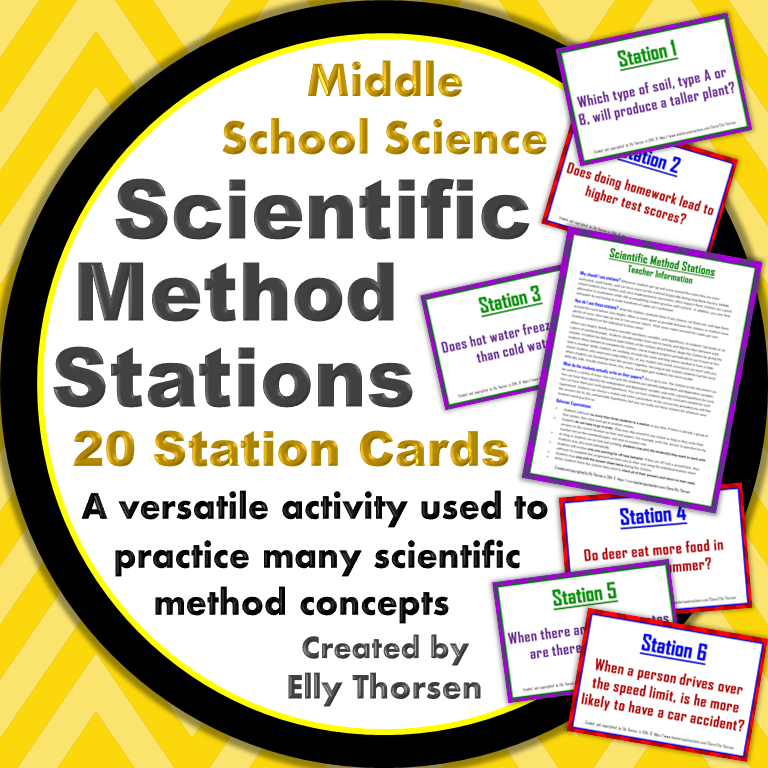 Use These Stations In Your Middle School Science Classroom To Practice The Scientific Method My Stude Scientific Method Middle School Science Science Stations