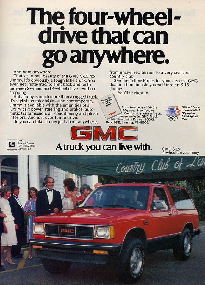 Gmc Jimmy Ad Hahaha This Is So Cool Automobile Advertising Gmc