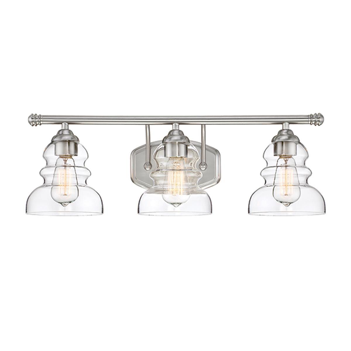 Modern Ridged Shade Vanity Light 3