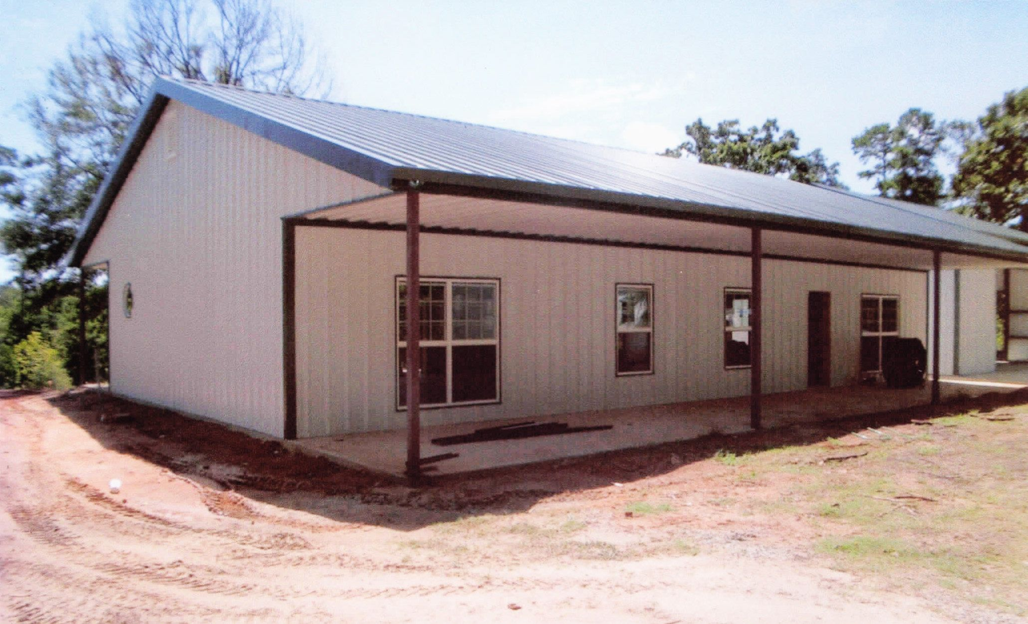 metal buildings with living quarters | columbia vacation rental
