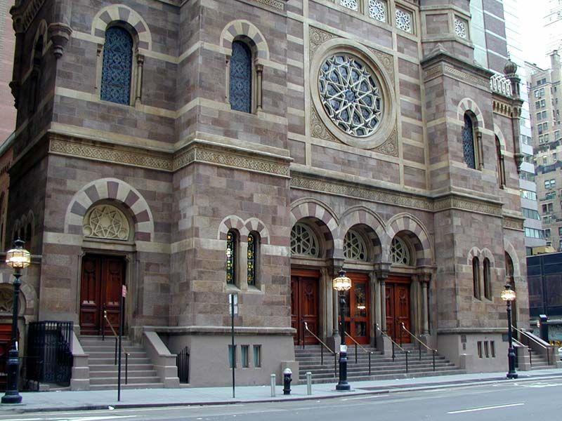 Central Synagogue 652 Lexington Avenue Synagogue Moorish Revival Architecture Moorish Revival
