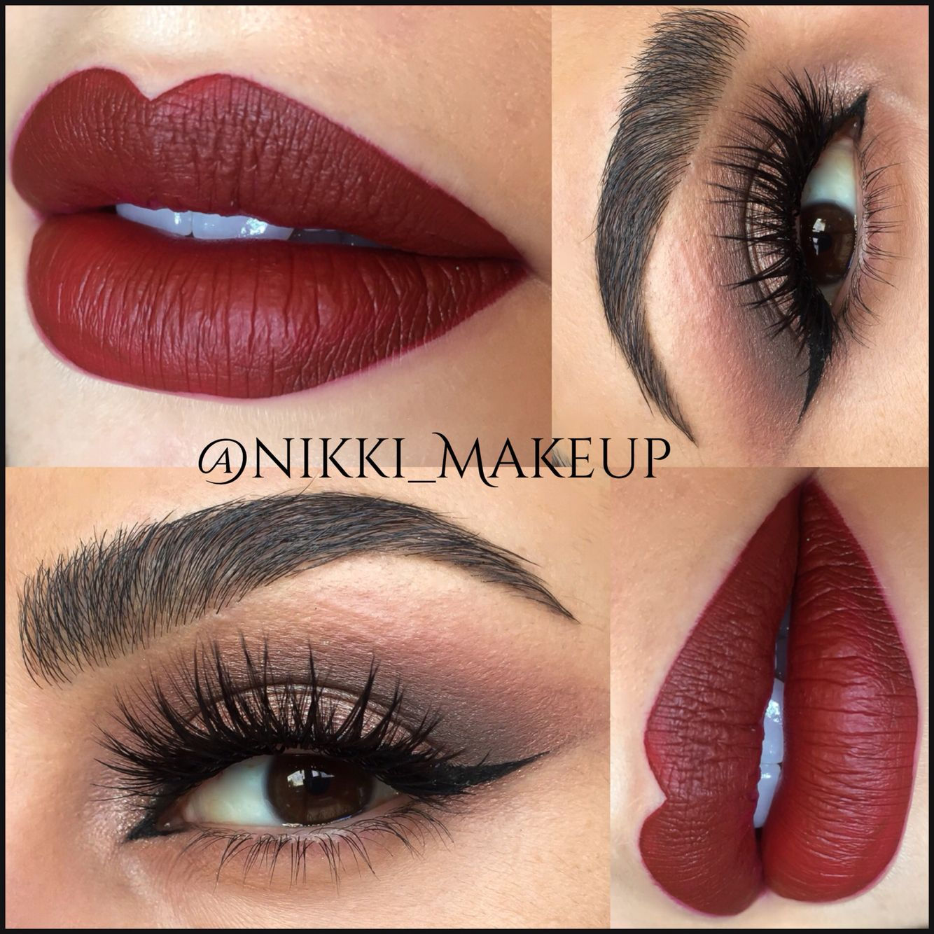 Lips, liner and lashes. Makeup, Dark