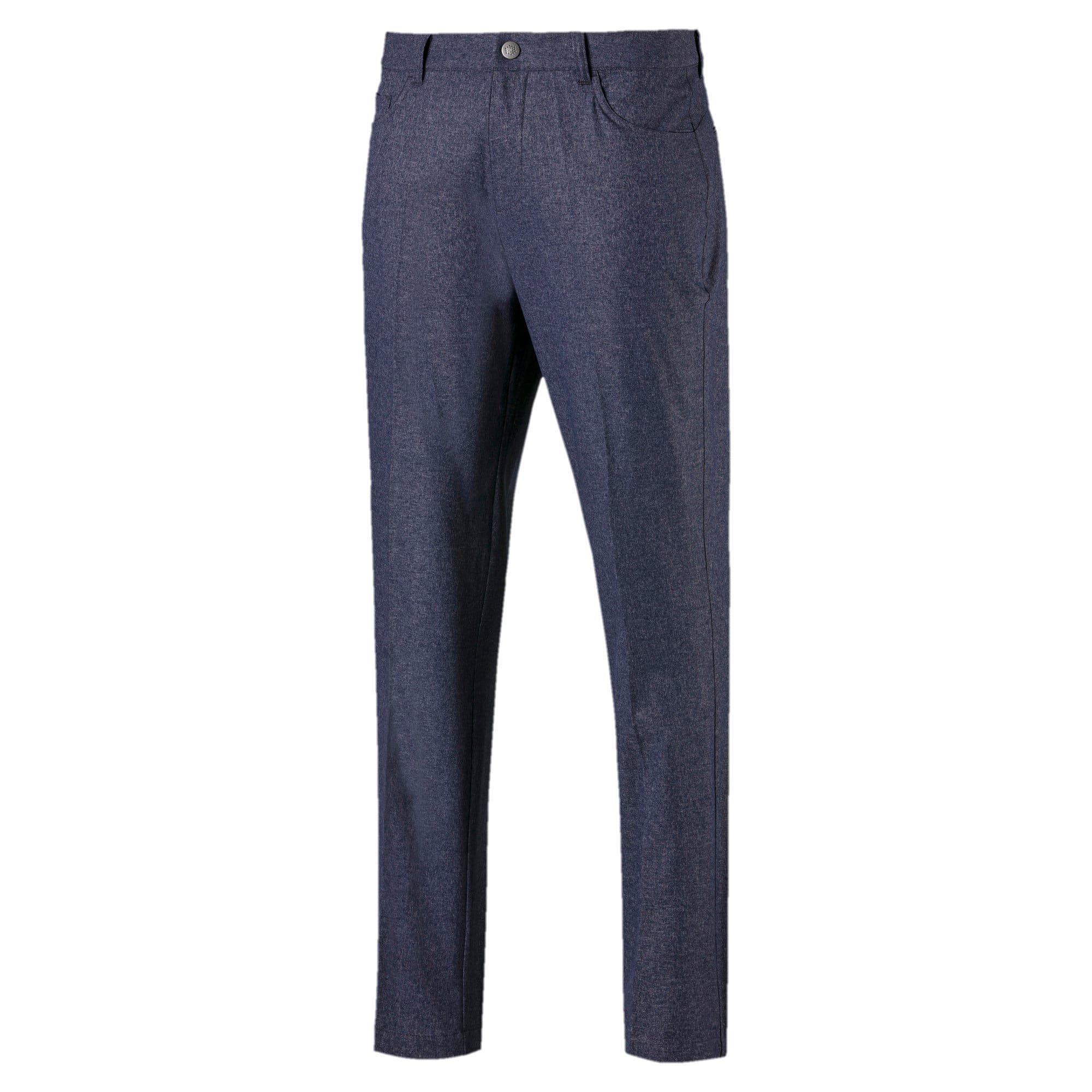 PUMA Jackpot 5 Pocket Heather Mens Golf Pants in Peacoat size 2930