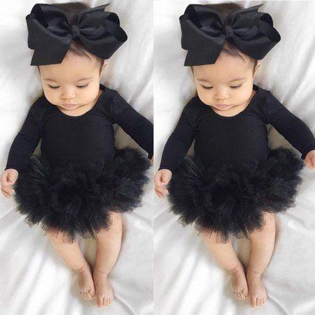 Hirigin - Infant Newborn Baby Girls Romper Jumpsuit Bodysuit Clothes Headband Outfit Set 0-6 Months - Walmart.com