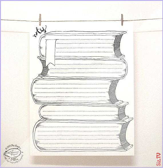 DOODLE Hinweis Papierb gen Set aus 4 einzigartigen Designs  Kreative seitig  Veranstalter  Wiederver...