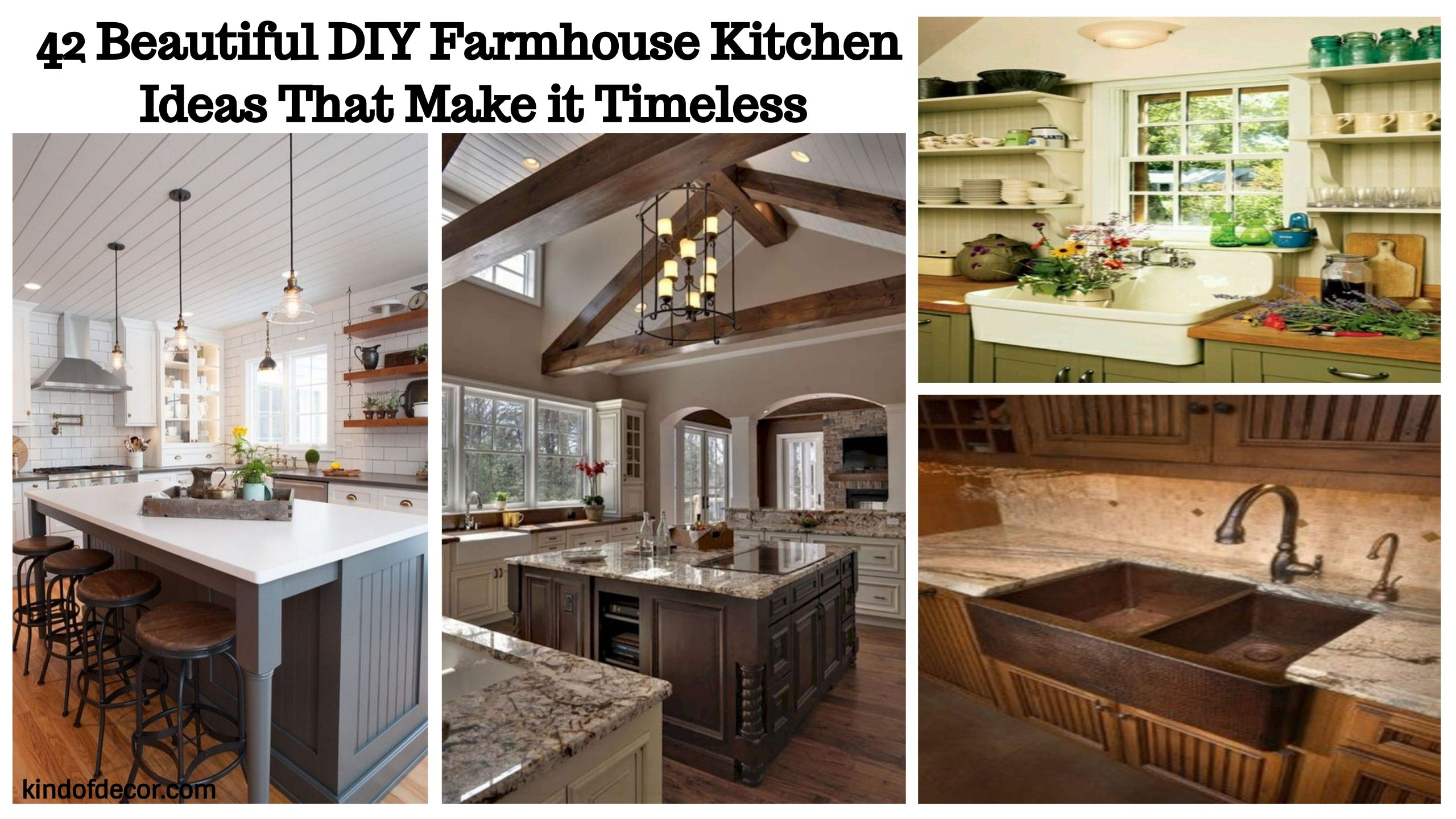 Stunning 42 Beautiful Diy Farmhouse Kitchen Ideas That Make It