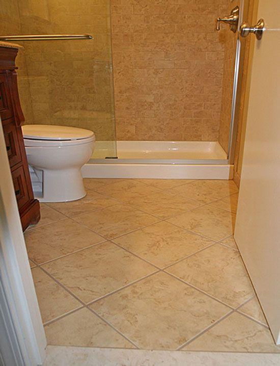 Bathroom Design Ideas Tile Flooring Idea Use Large In Small