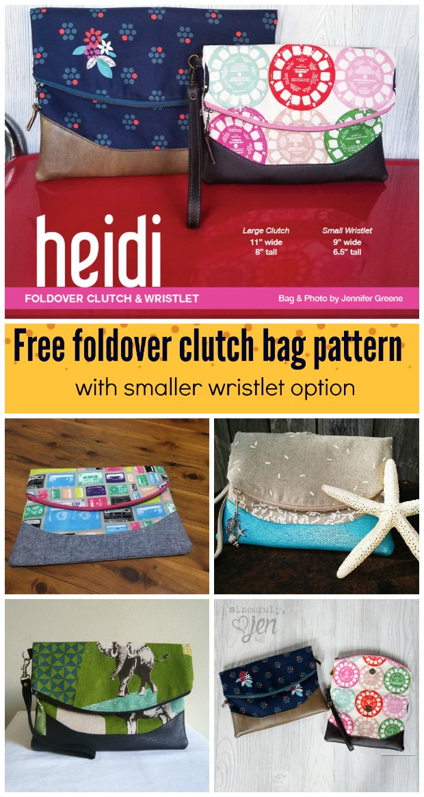 Heidi Fold Over Clutch Bag FREE sewing pattern & video – Sew Modern Bags