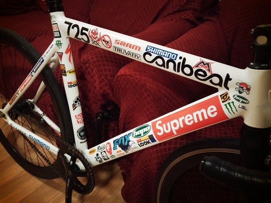 Leader 725 White 2013 53cm Fixed Bike Bike Stickers Bike Design